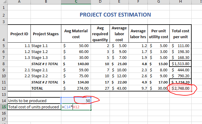 Cost Estimate Template Excel | merrychristmaswishes.info