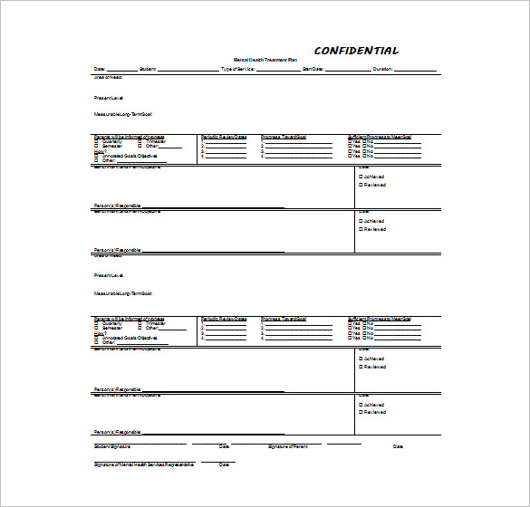 counseling treatment plan template Melo.in tandem.co