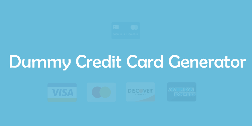 Dummy / Fake Credit Card Generator 💳