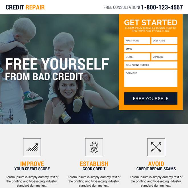 Credit Repair Website Template