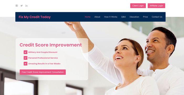 best credit repair service landing page design templates page 2