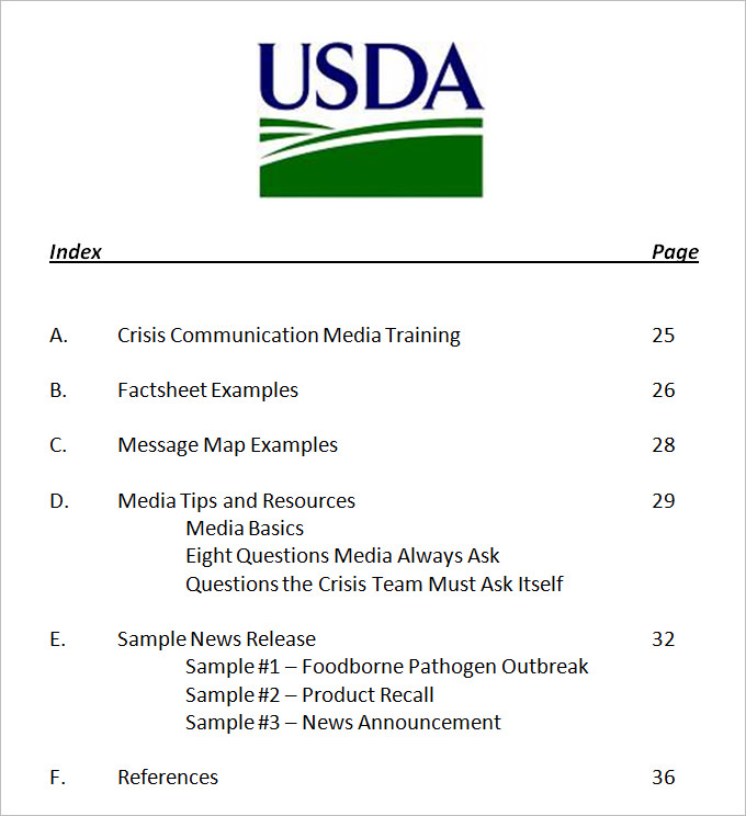 Crisis Communication Plan Template 4+ Free Word Documents