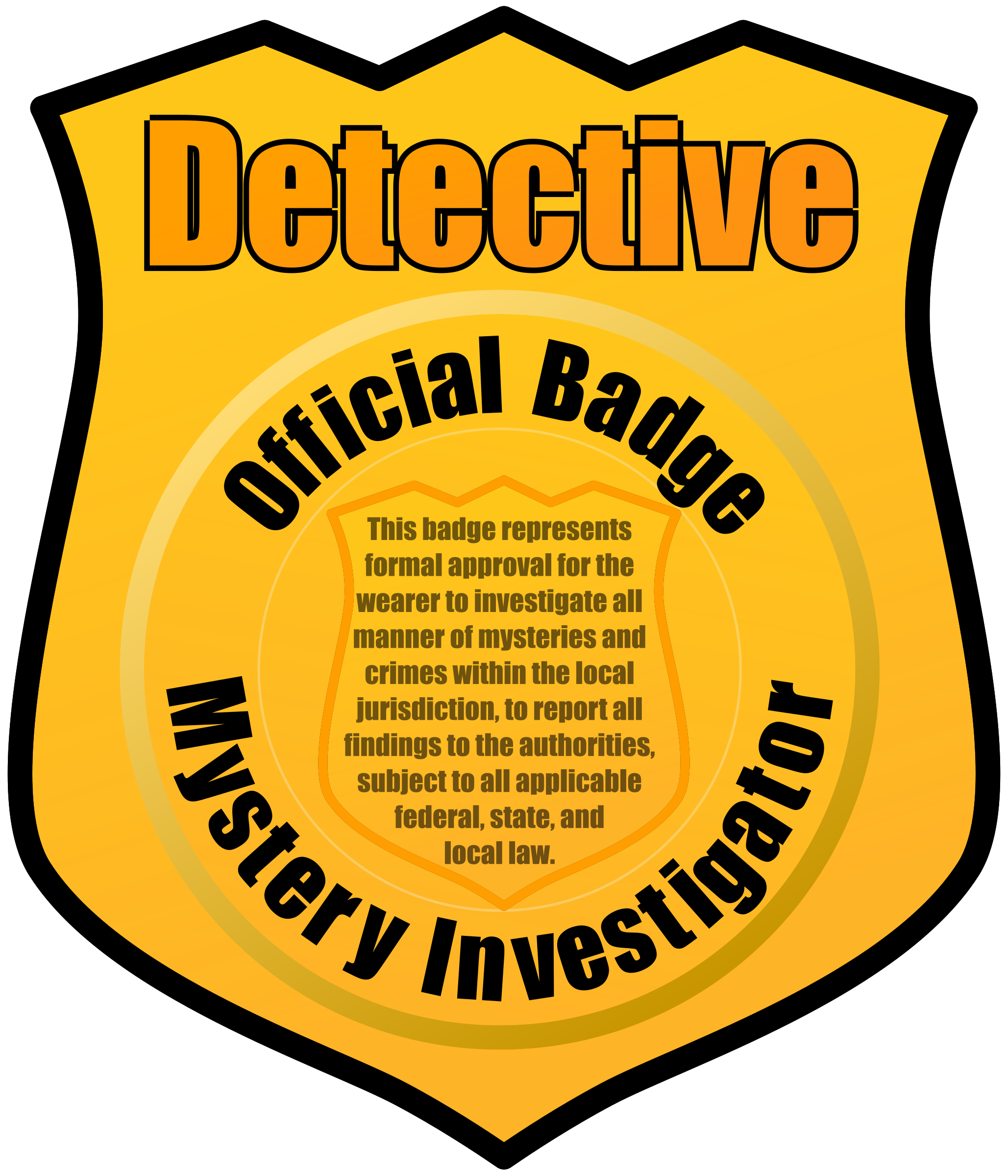 Detective badge template   Get a Clue Summer Reading Program 2012
