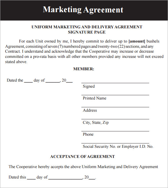 marketing contract template Akba.katadhin.co