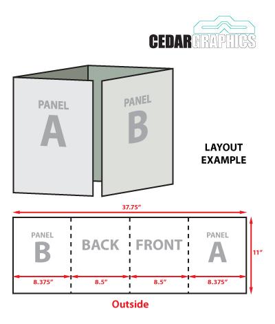 8.5 x 11 Double Gate Fold Tri Fold Brochure Template Download