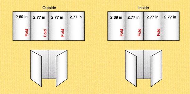 double panel brochure template gate fold brochure template