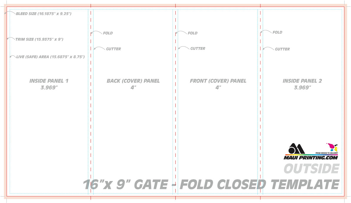 Gate Fold Brochure Template Indesign – The Best Templates Collection