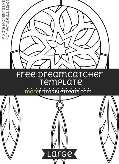 Free Dreamcatcher Template Large | Shapes and Templates