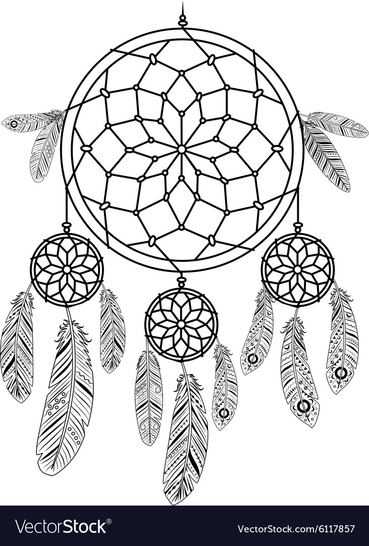 Colorful Dreamcatcher Template Image Collection Example Resume