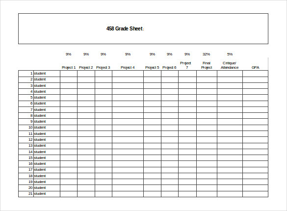 grading chart template Melo.in tandem.co