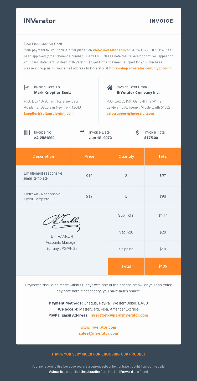 Invoice Template Email Invoice Attached Email Example Creative