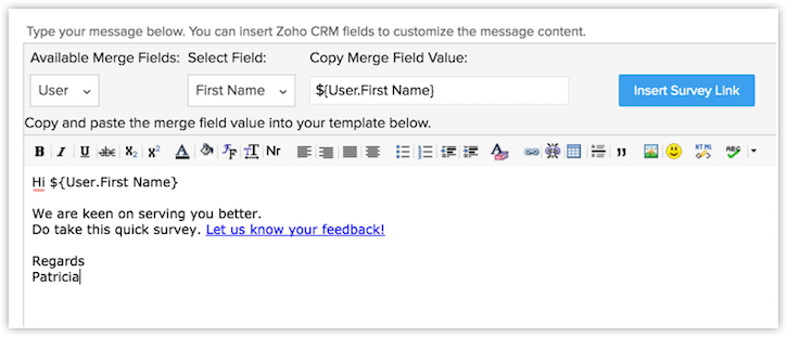 Working with Zoho Survey | Online Help Zoho CRM