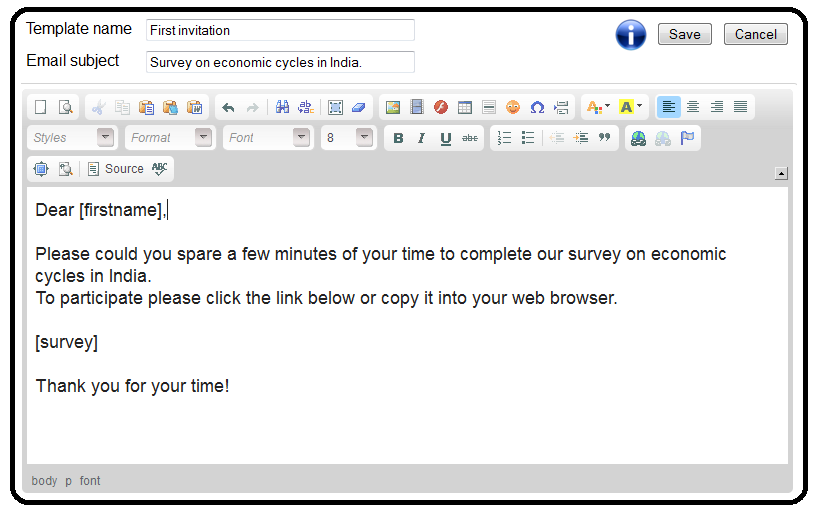 100% Free survey software Email Templates