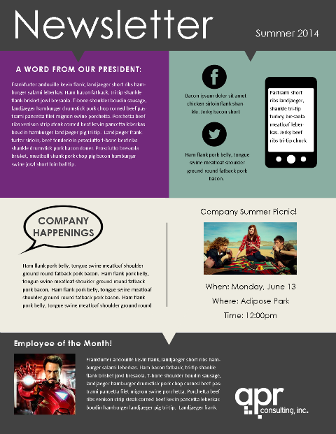 staff newsletter template Melo.in tandem.co