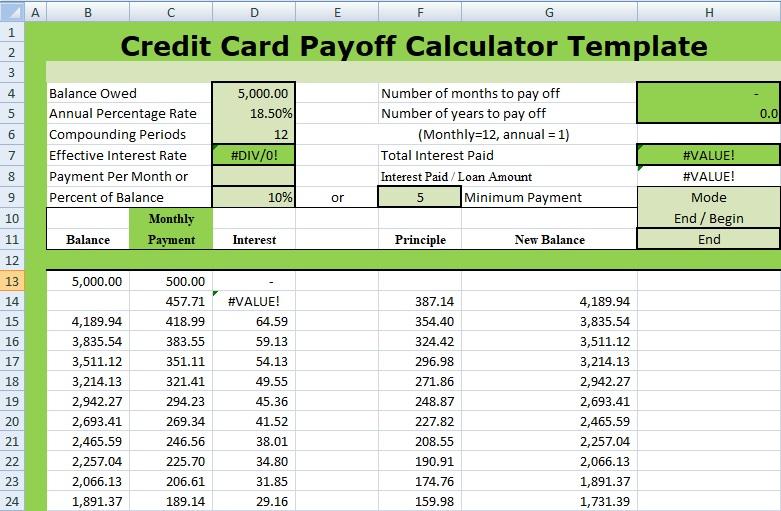 payoff calculator credit card Akba.katadhin.co