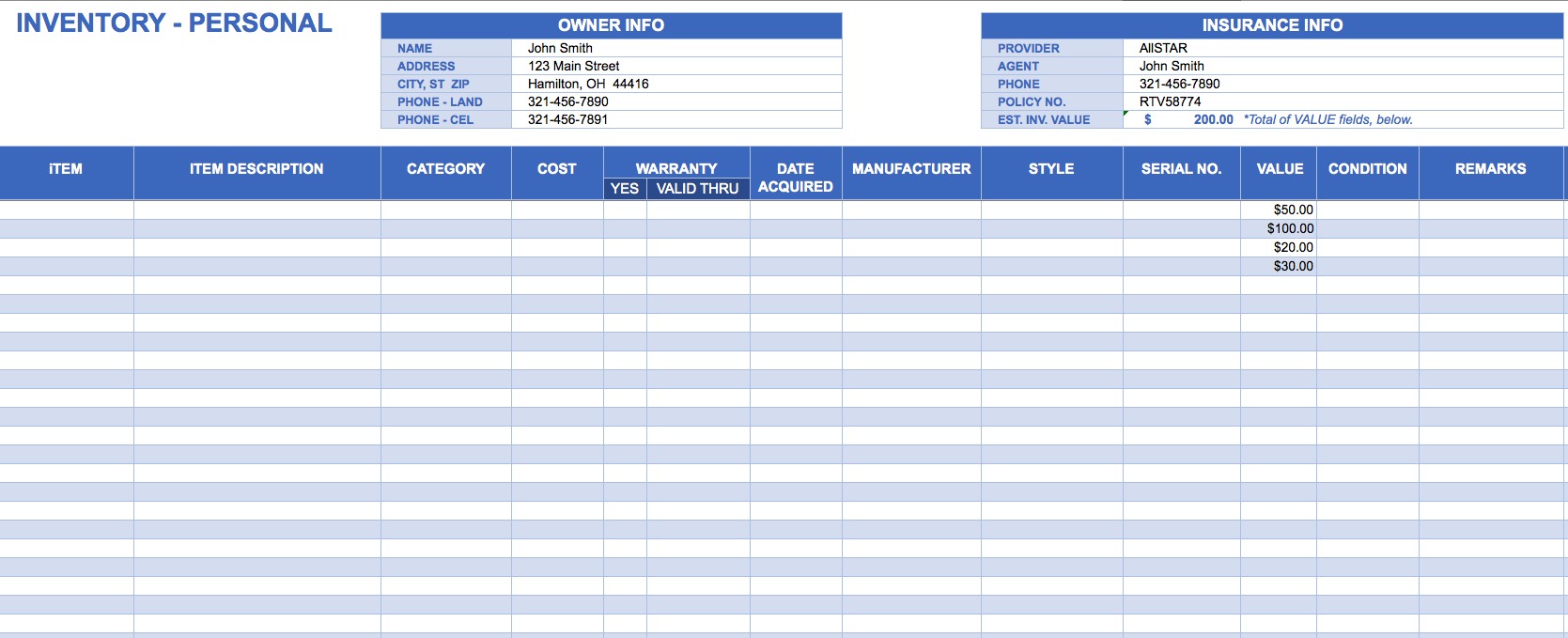 Free Software Inventory Tracking Template for Excel