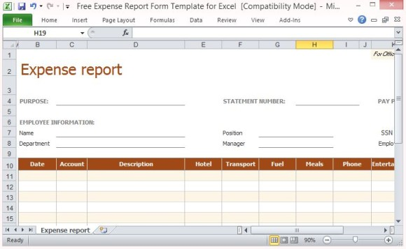 free download monthly expense report templates microsoft access