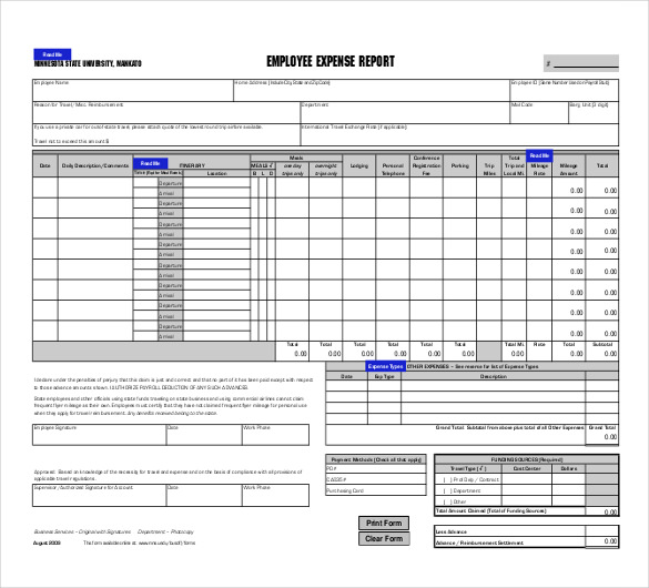 expenses report template excel Melo.in tandem.co