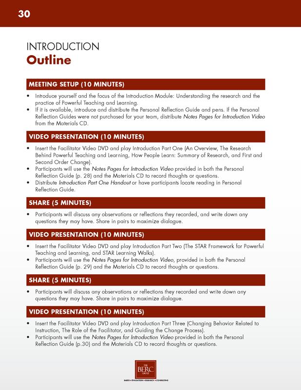 Facilitator Guide Toolkit The BERC Group