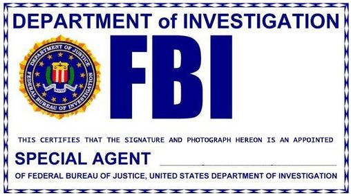 Propnomicon: X Files Style FBI Badge | Halloween (and those other