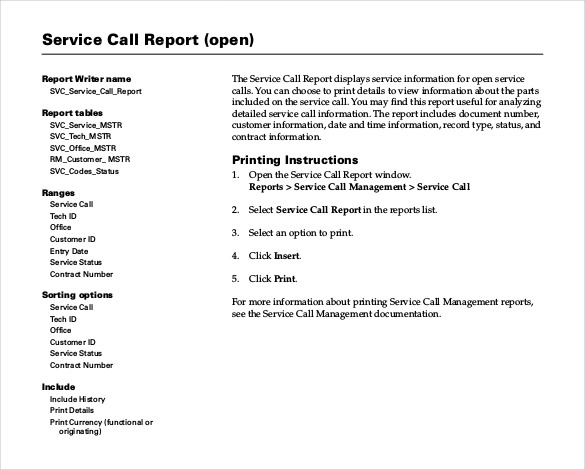 Sample Service Report Template 25+ Free Word, PDF Documents