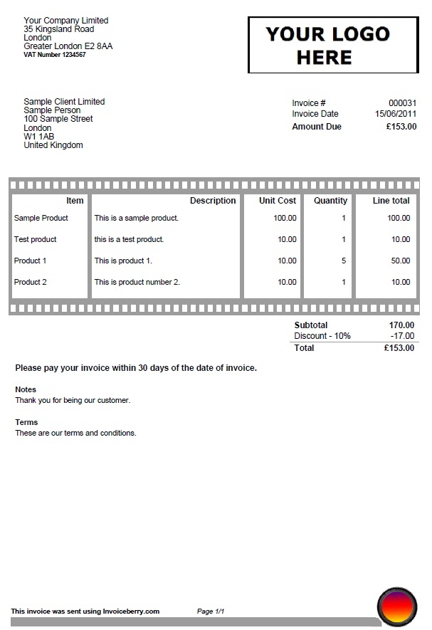 film invoice template Akba.katadhin.co