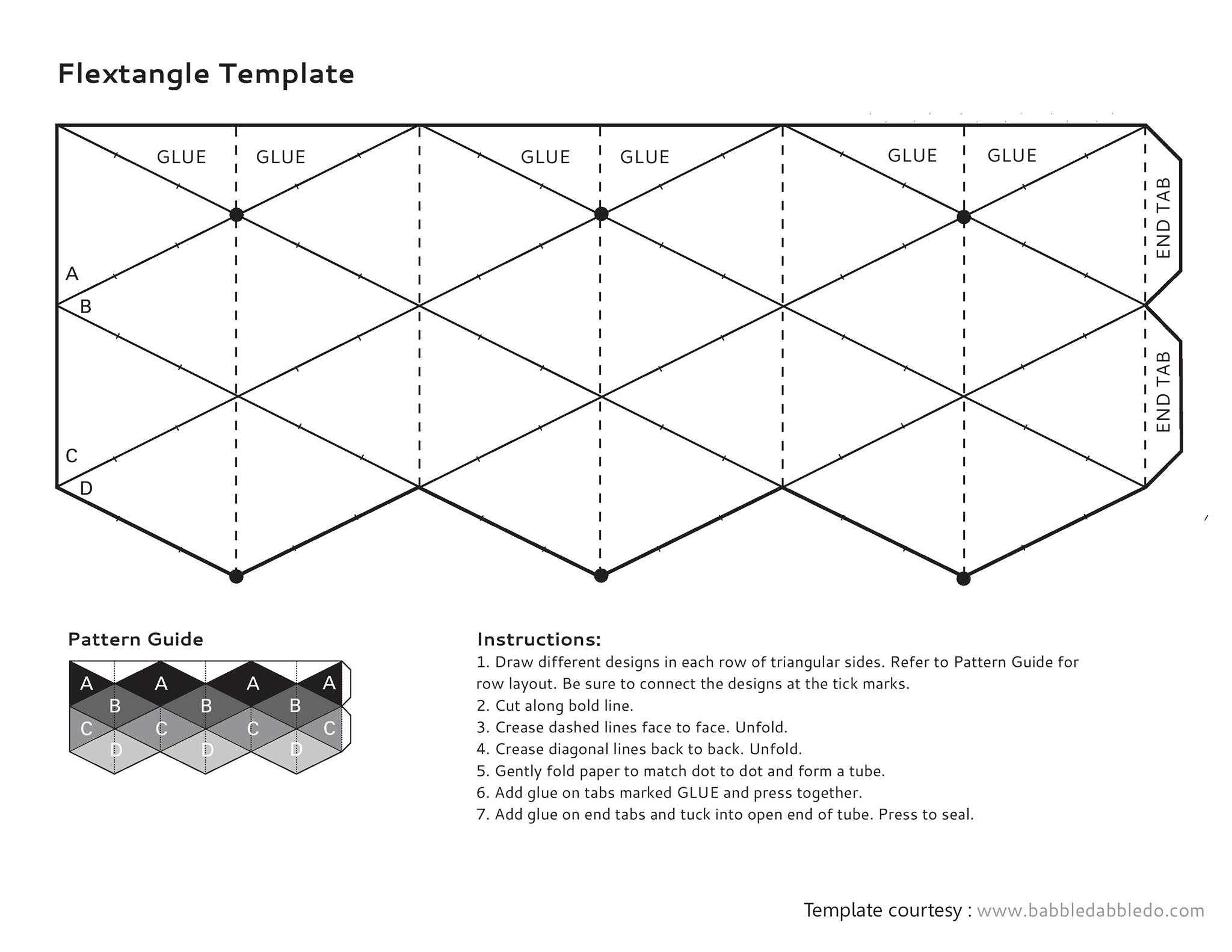 Fillable Online Flextangle Template Fax Email Print PDFfiller