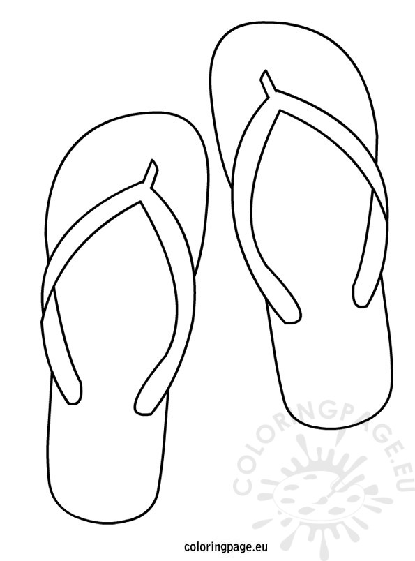 Flip Flop template | Coloring Page