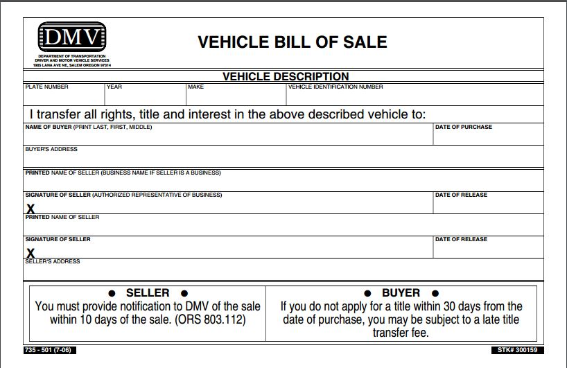 dmv bill of sale florida Melo.in tandem.co