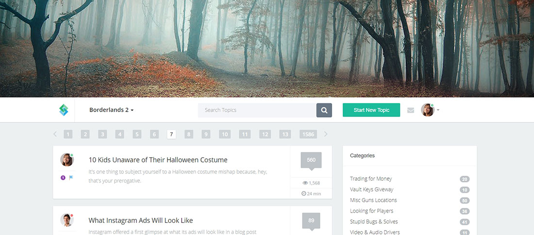 20 Clean and Modern Forum Templates