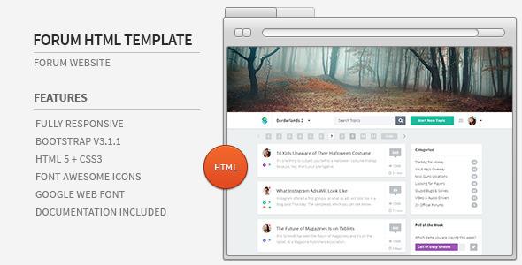 Forum Website HTML Template by azyrusmax | ThemeForest
