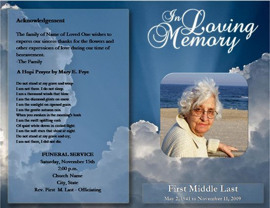 free funeral program template download Melo.in tandem.co