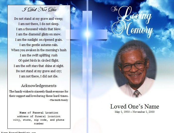 free funeral program templates for microsoft word Melo.in tandem.co