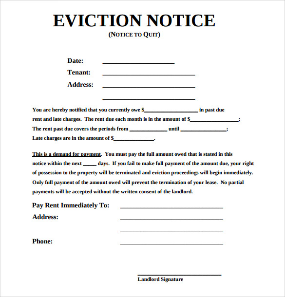 free eviction notice templates Melo.in tandem.co
