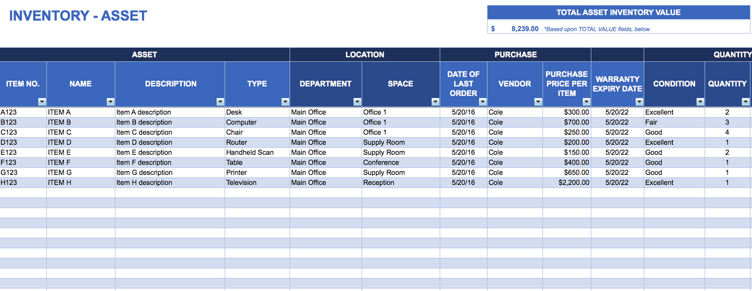 free excel inventory sheet Melo.in tandem.co