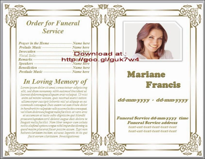 free obituary template microsoft word