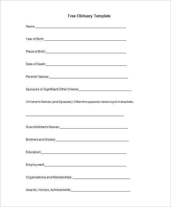 51+ Obituary Templates DOC, PDF, PSD | Free & Premium Templates