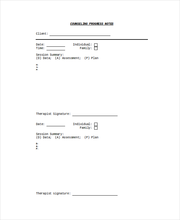 grop therapy progress note template excel | mentalhealth