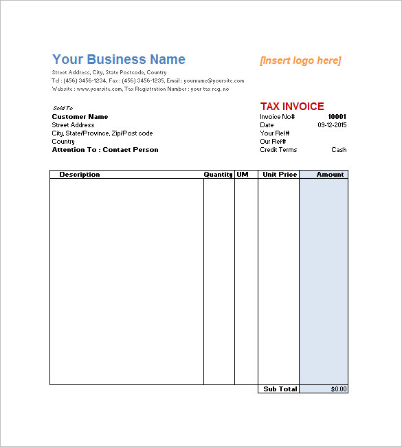 Free Service Invoice Template Download | merrychristmaswishes.info