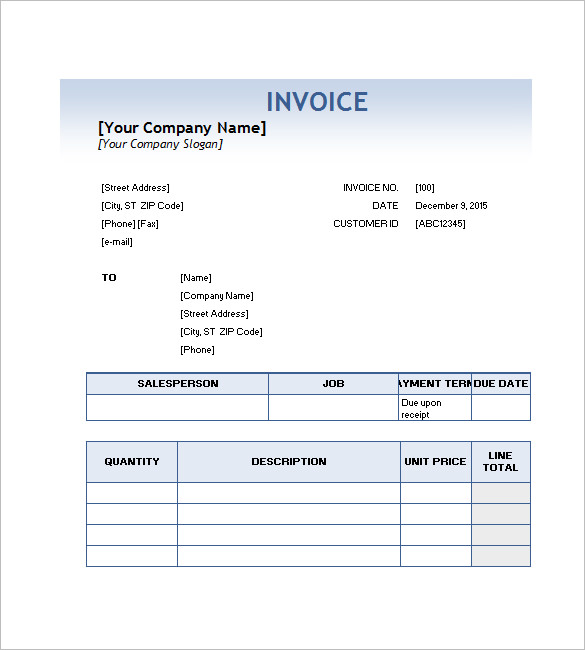 Service Invoice Templates – 11+ Free Word, Excel, PDF Format