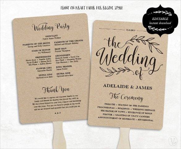wedding program templates Melo.in tandem.co