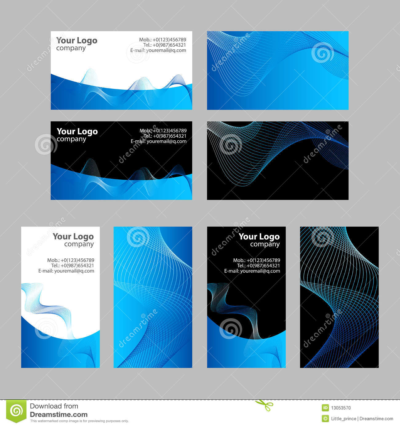 Business Cards Templates, Front And Back Stock Vector