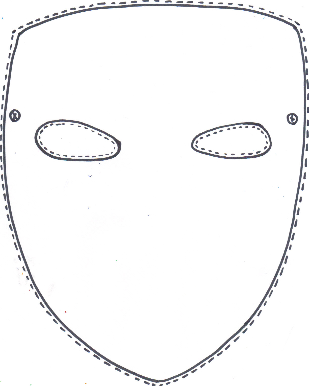 It's just a photo of Revered Mask Template Printable