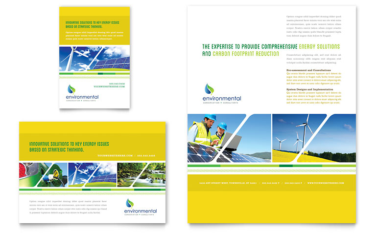 full page brochure template environmental conservation flyer ad