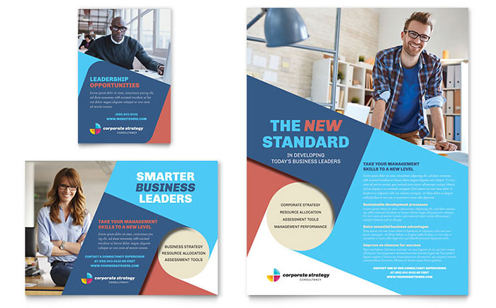 Corporate Strategy Flyer & Ad Template Design