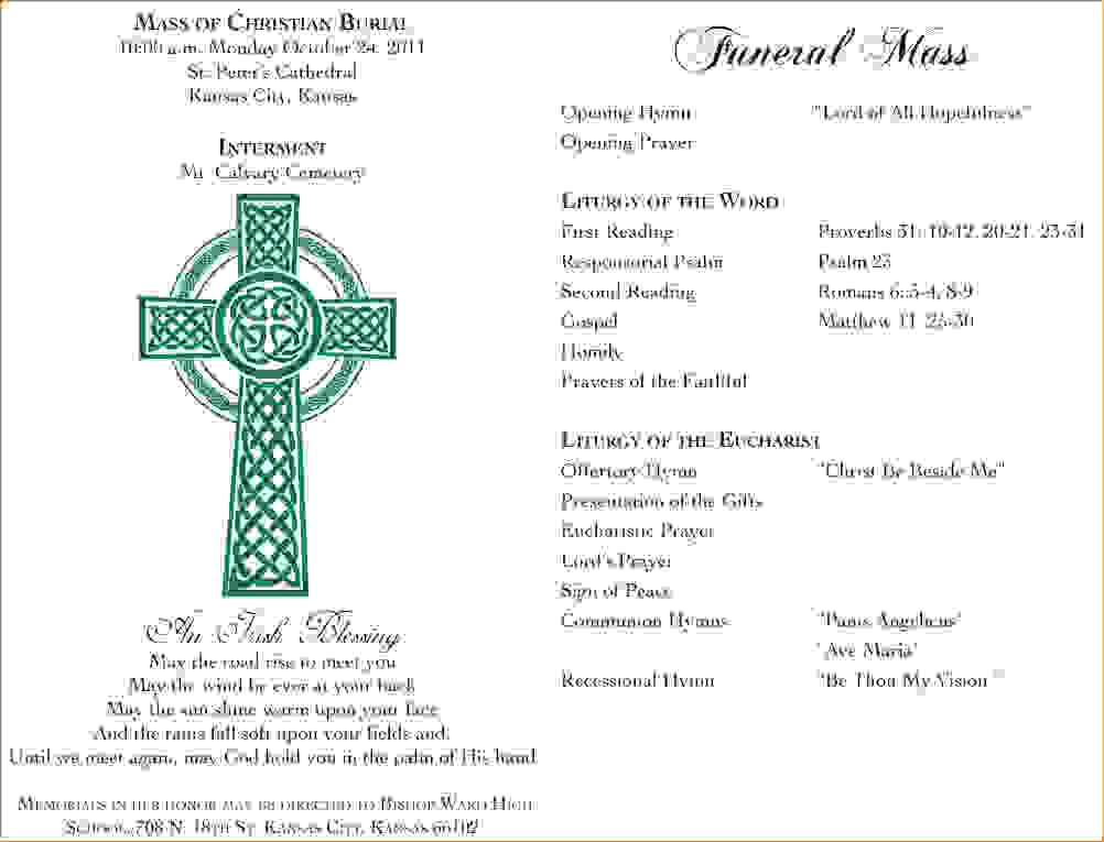 funeral mass program Melo.in tandem.co