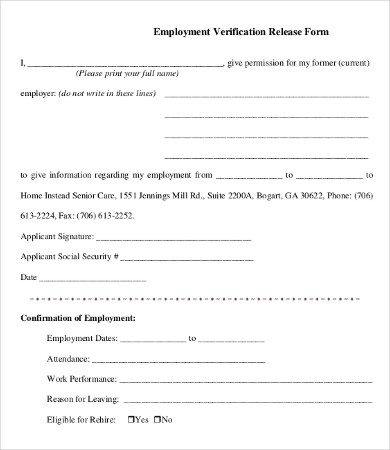 past employment verification form template Melo.in tandem.co