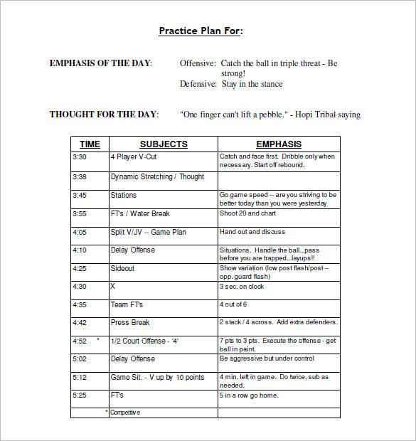 football practice schedule template download Akba.katadhin.co