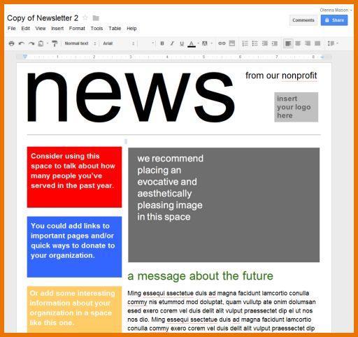 google sites newsletter template google docs newsletter template