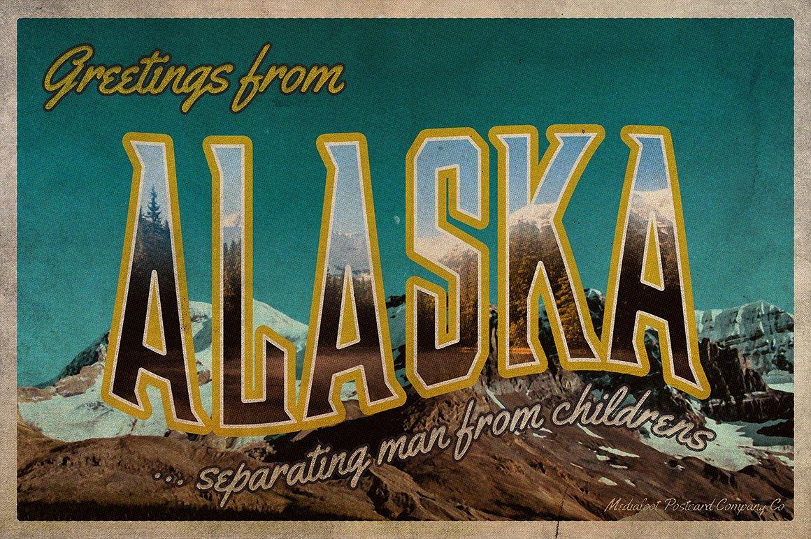 Vintage Greetings Postcard Generator ~ Card Templates ~ Creative